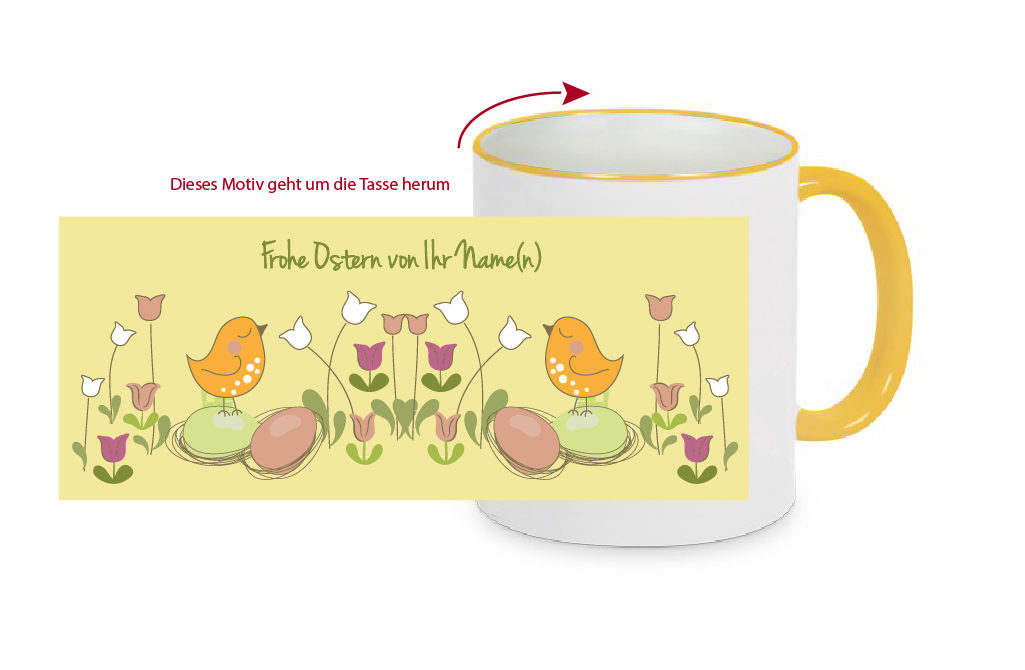 ostertasse ostern tasse becher fototasse mit ostermotiv ihr name e rm 2 ebay. Black Bedroom Furniture Sets. Home Design Ideas